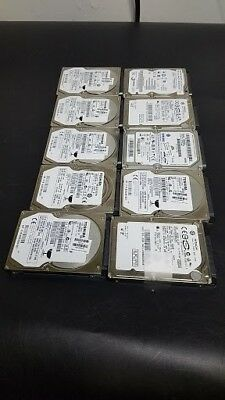 "Lot of 10 - 320GB 2.5"" SATA Laptop Hard Drives Mixed Mixed Brands - TESTED"