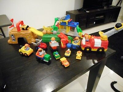 Fisher-Price Little People Play 'n Go Construction Site & Sounds Crane & Quarry