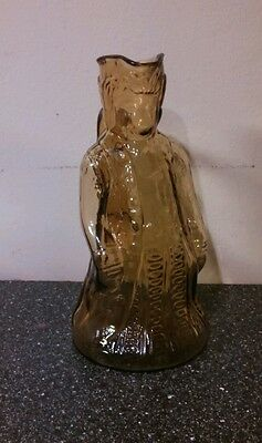 Very Rare Early Antique George Washington Pitcher Or Colonial Man~Amber Color