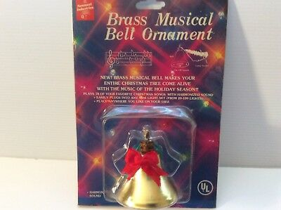 Foremost Industiries Brass Musical Bell Ornament New Sealed Made in Taiwan