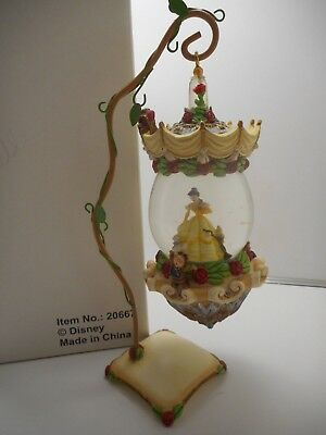 Disney Beauty and the Beast Hanging Snow Globe Ornament with Stand - Belle