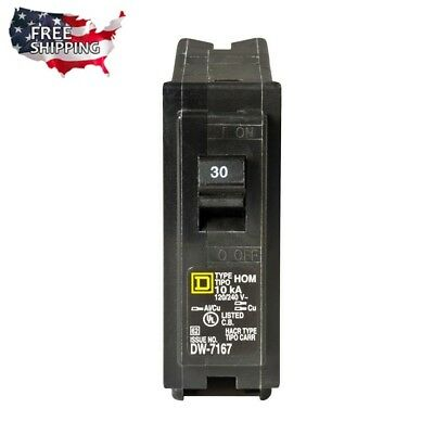 30 Amp Circuit Breaker Single Pole Electrical System Overload Short-circuit Safe