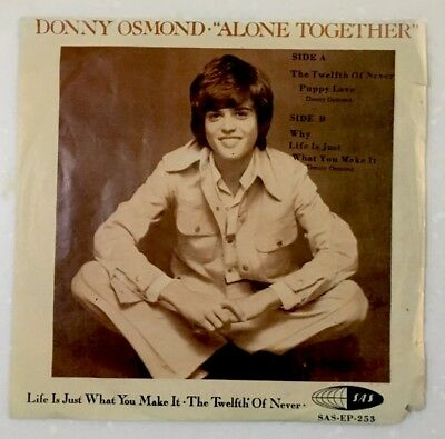 Rare DONNY OSMOND Alone Together Malaysia EP Unique Cover Sas Records