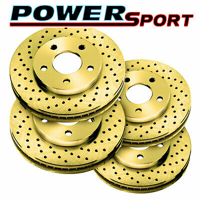 Fit 2000 Subaru Legacy Front Rear PowerSport Drill Slot Brake Rotors
