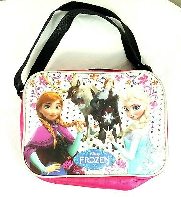 Disney frozen lunch bag with zipper and straps