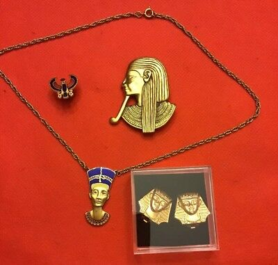 Lot Of 4 Egyptian Women Jewelry - Really Nice   - Estate Find