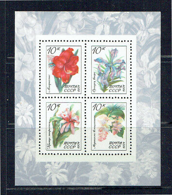 Russia 1971 Tropical Flowers Minisheet - Mint Unhinged