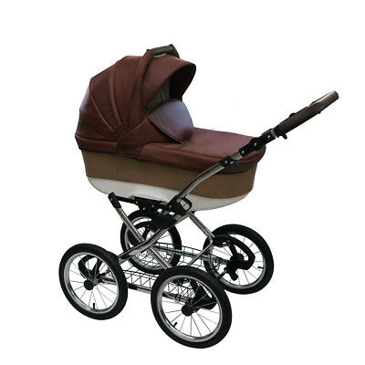 Baby Pram 3in1 Stroller Buggy Pushchair Classic Retro Travel system and car seat