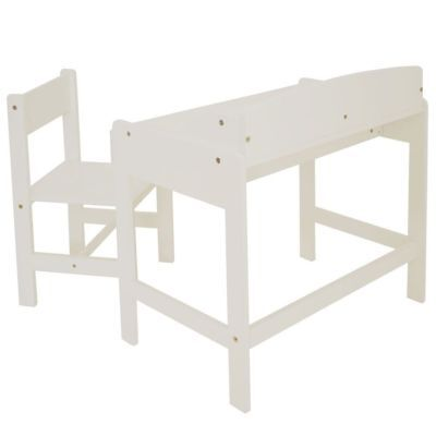 Classic White Desk and Chair, Kids Indoor Seat Set