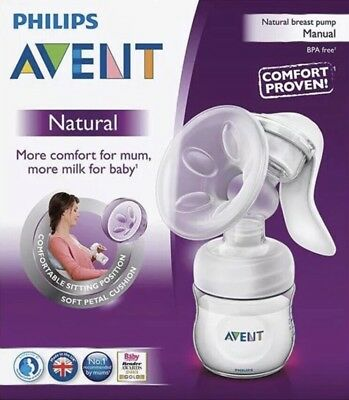 Philips Avent Natural Manual Breast Pump Kit Comfort Bpa Free Sterilised