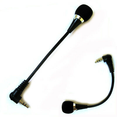 New Mini 3.5mm Jack Flexible Microphone Mic For PC Laptop Notebook Skype Yahoox1