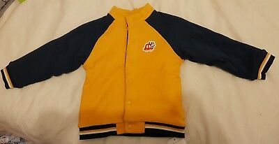 Yellow and Navy Mothercare Bomber Jacket 12-18 months