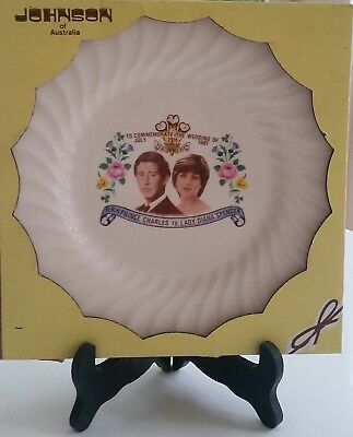 In Box JOHNSON AUSTRALIA Porcelain Plate Marriage of Prince Charles and Diana