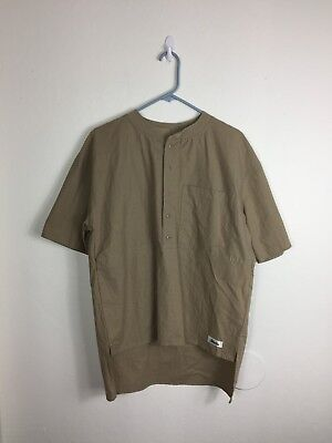 Men's Small LegGoons VTG USA MADE VINTAGE Brown Tan Skater Surf Pocket Tee Shirt