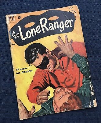 The Lone Ranger No. 34 (1951) Vintage Dell  Comic