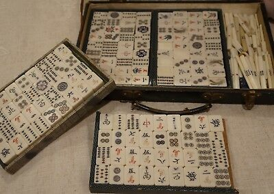 Vintage . Mahjong Set . Original Case . Looks Excellent . Complete with extras
