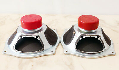 Matched Pair vintage full-range TELEFUNKEN RED MAGNET Ø 8'' speaker / Lautsprech