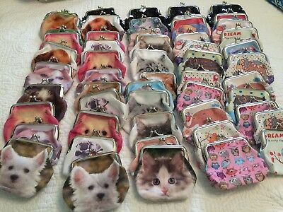 Lot of 55 Assorted Change Coin Purses New Retail Wholesale Lot