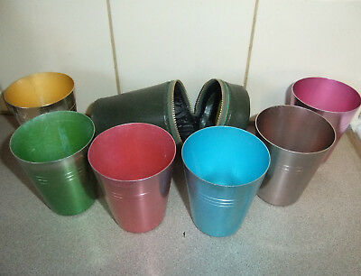 VINTAGE SET OF PICNIC CUPS, good used condition