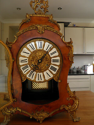 "Louis XV Style Walnut Large Bracket / Mantel Clock 24"" High Impressive Piece"