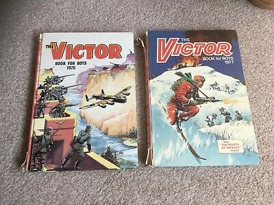 Victor Book for Boys Annuals 1970 And 1977
