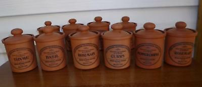 8 Henry Watson Terracotta English Spice Containers