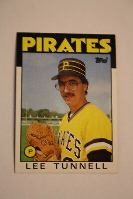 TOPPS Baseball Trading Cards #161 Lee Tunnell Pittsburgh Pirates 1986 MLB