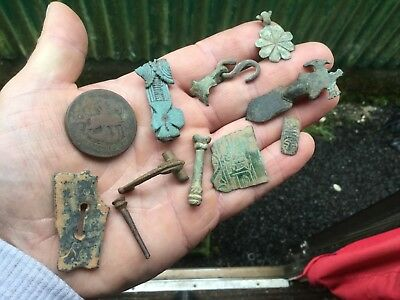 Handful Of Dug Up Artefacts/From Bronze Age On