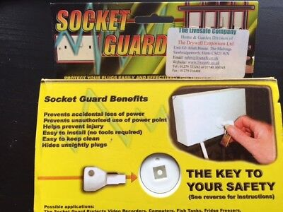 SOCKET GUARD Double Socket Protector Child Safety Socket Guard Baby Proof