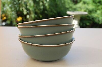 FOUR DENBY REGENCY GREEN 16cms BREAKFAST CEREAL BOWLS