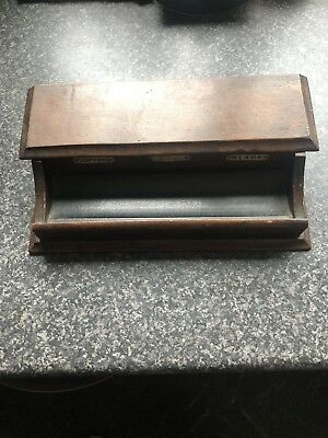 antique wooden desk Set Pen And Inkwell Stand