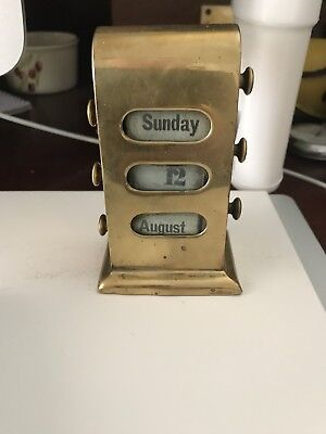 Rare Brass Calander Very Unusual Vintage Antique