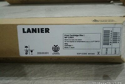 New Genuine  Lanier Black Cartridge for MP C3501, Made in Japan