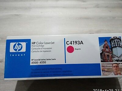 New Genuine HP Color LaserJet C4193A Magenta for 4500 & 4550. Made in Japan
