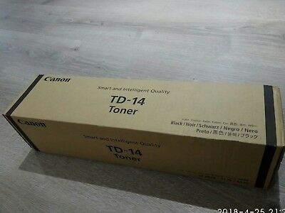 New Genuine Canon TD-14 Black Toner. Made in Japan