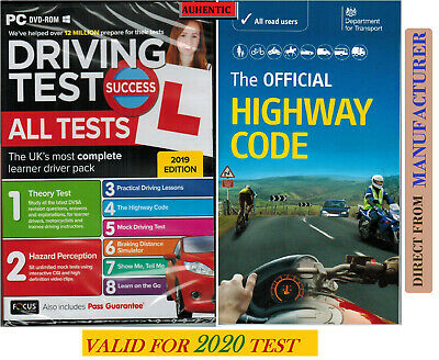 2019 Driving Theory Test and Hazard CD DVD + Official DSA Highway Code Book DVLA
