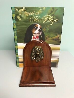 Cavalier King Charles Spaniel Bookends a Ken and Laura Ottinger Design