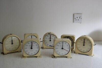 Lot of Seven Smiths English Clock Systems Darkroom Timers Spares or Repair