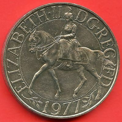 "1977 Great Britain 25 Pence Coin "" Queen Elizabeth Jubilee """