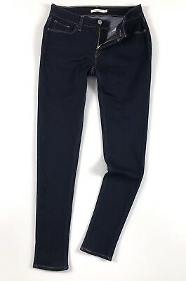 Levi's 535 Jeans Women's Super Skinny Canal Rinse Dark Blue Stretch 11997-0200