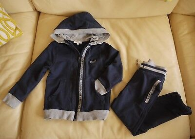 BOSS HUGO BOSS Designer BOYS NAVY BLUE Hoody TRACKSUIT Age 5 108 cm 4-5 Years