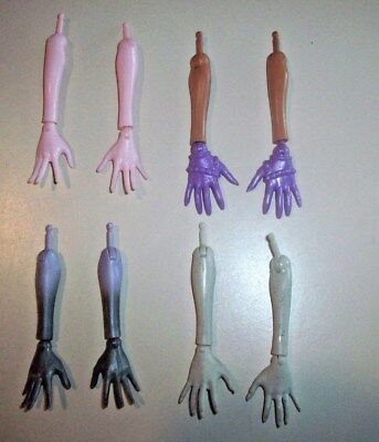 Excellent Monster High Doll Replacement Parts ~ 4 Sets of Arms/Hands