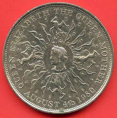 "1980 Great Britain 25 Pence Coin "" Queen Elizabeth & Queen Mom """