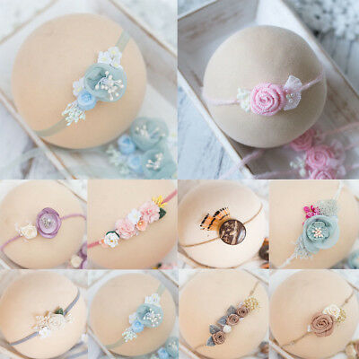 Fashion Hair Accessories Princess Pearl Photography Props Flower Baby Headband