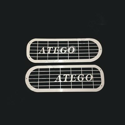 To Fit Mercedes Atego Headlight Protector Super Polished Stainless Steel 2 Pcs