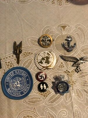 Assorted WWII German and British Badges, along with others
