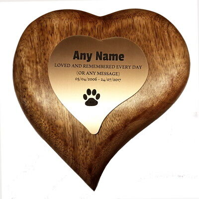 Heart Pet Box Pet Urn Dog Urn Cat Urn Ashes Cremation Box Compartments Plaque