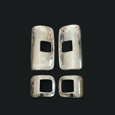 To Fit Mercedes Atego Mirror Covers Super Polished Stainless Steel 4 Pcs