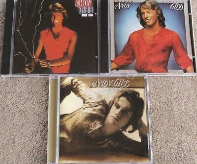 3CD ANDY GIBB - After Dark /Shadow Dancing /Flowing Rivers  (RARE) sealed&new