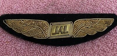 JAL japan Airlines Bullion Wings On Cloth